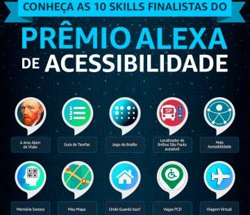 Somos finalistas do Prêmio Alexa de Acessibilidade da Amazon